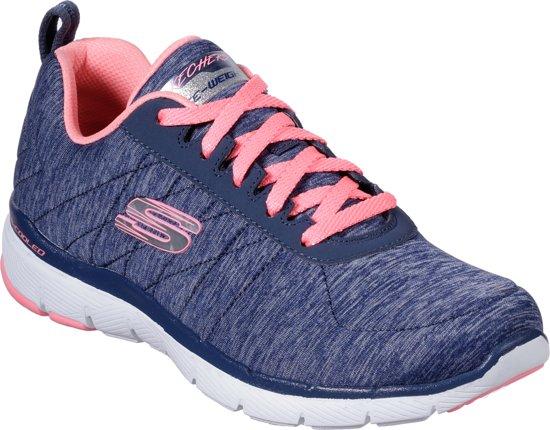 dde0c0afb46 Skechers Flex Appeal 3.0-Insiders Sneakers Dames - Navy Coral - Maat 37