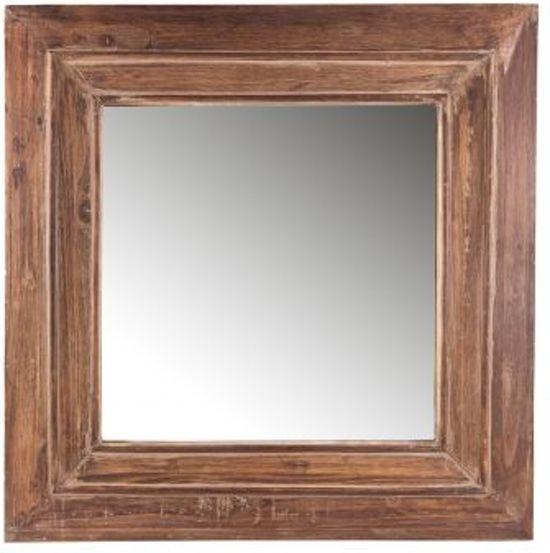 Blank Houten Spiegel.Bol Com Wood Spiegel Vierkant 60 X 60 Cm Hout