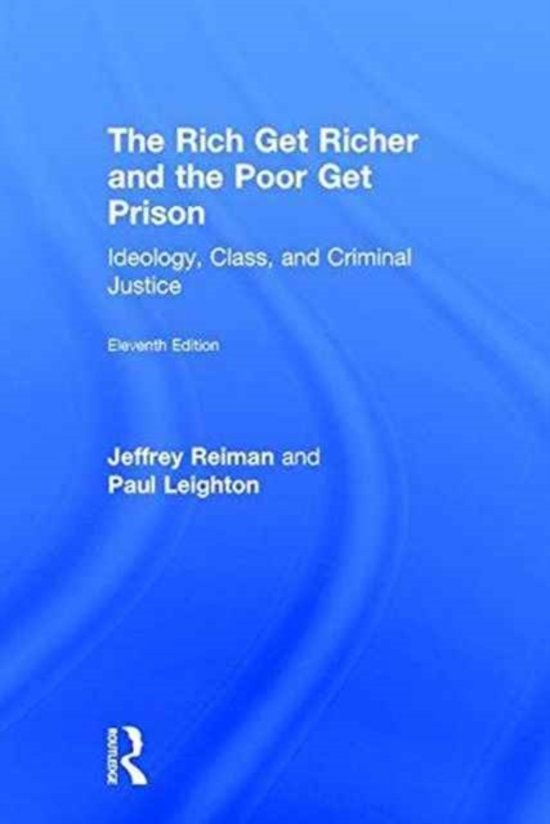 a book review of the rich get richer and the poor get prison by jeffrey reiman The rich get richer and the poor get prison: ideology, class, and criminal justice by professor jeffrey reiman starting at $099 the rich get richer and the poor get prison: ideology, class, and criminal justice has 2 available editions to buy at alibris.