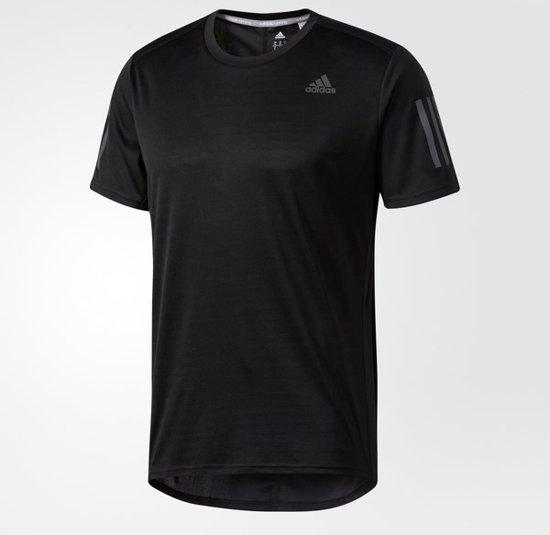 adidas Response SS Tee Sportshirt Heren - Black