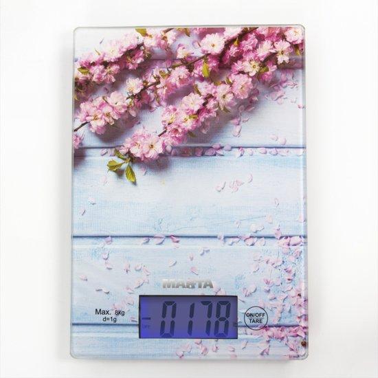 MARTA MT-1633 keukenweegschaal/8KG/spring flowers