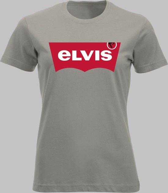 T-shirt V Elvis naar Levi's - Zandgrijs - V - XS Sportshirt