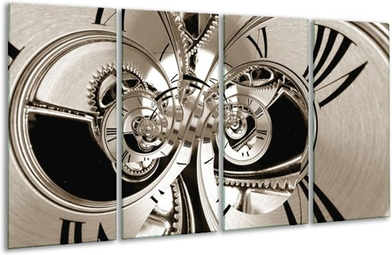 Glas schilderij Abstract   Sepia   160x80cm 4Luik   Foto print op Glas    F006404