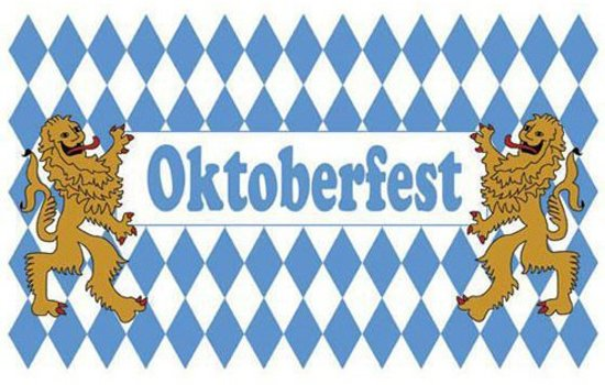Oktoberfest vlag 90x150cm