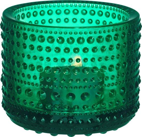 Iittala Kastehelmi Waxinelichtjeshouder - Sfeerlicht - h 6,4 cm - emerald