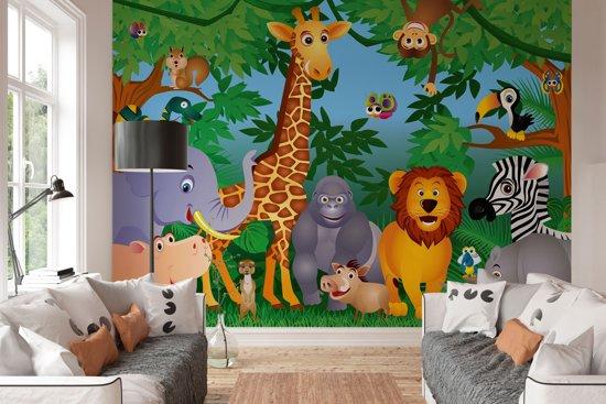 Kinderkamer Jungle Behang : Bol w g fotobehang in the jungle delig