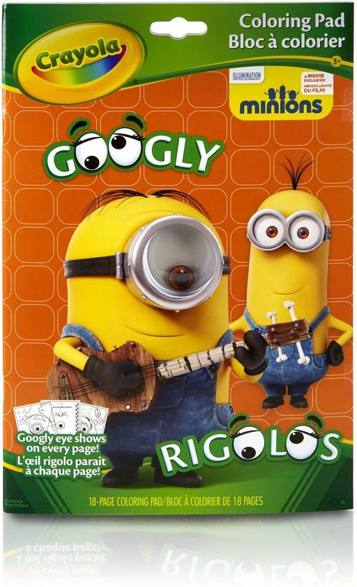 Kleurplaten Voor Volwassenen Minion.Bol Com Kleurboek Googly Eyes Minions Crayola Speelgoed