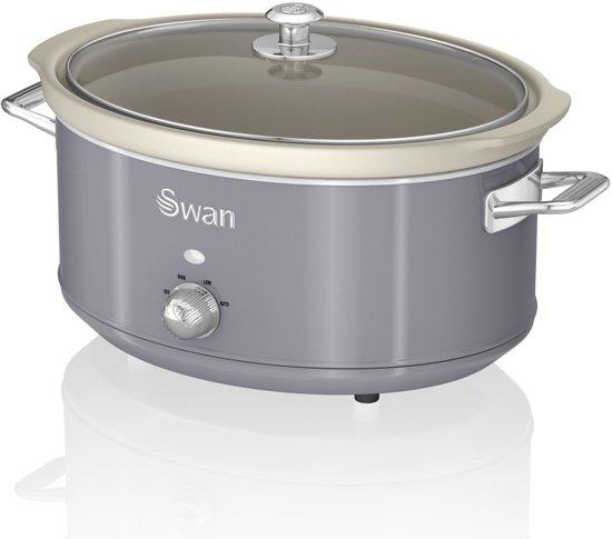 Swan Retro 6.5 L Slowcooker Grijs