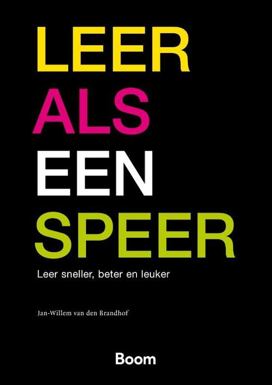 Boek cover Leer als een speer van Jan-Willem van den Brandhof (Paperback)