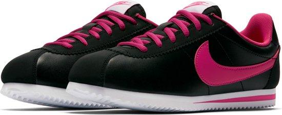 Nike Cortez Chaussures De Sport (gs) - Taille 36,5 - Unisexe - Noir / Blanc
