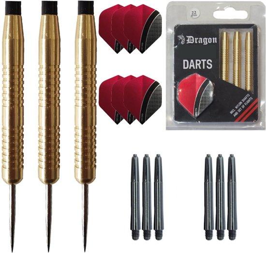 Dragon Darts - 100% Brass - darts pijlen - 22 gram - dartpijlen - inclusief extra's