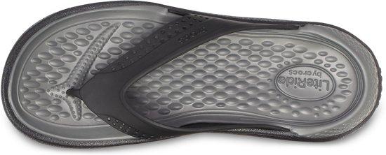 Slippers 43 Zwart Unisex Maat Crocs grijs zYqndPPT