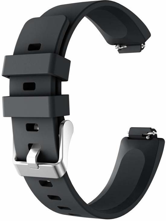 YONO Siliconen bandje - Fitbit Inspire (HR) - Zwart - Large