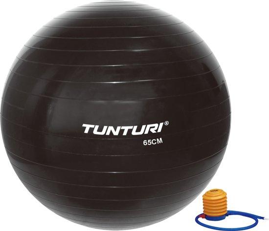 Tunturi Fitnessbal - Gymball - Swiss ball - Ø 65 cm - Inclusief pomp - Zwart