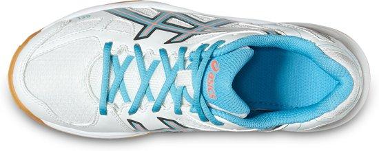 Asics Gel-Flare 5 indoorschoenen Junior  Sportschoenen - Maat 38 - Unisex - wit/blauw