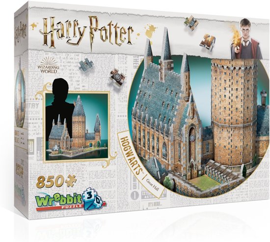 Wrebbit 3D Puzzle - Harry Potter Hogwarts Great Hall 850 stukjes