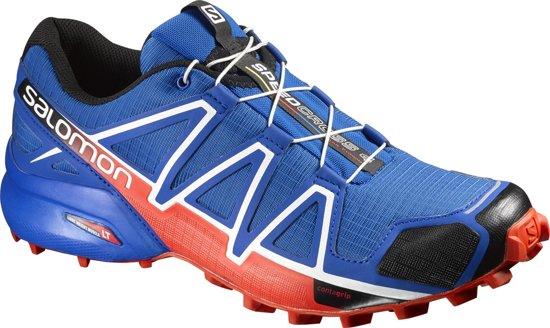 Salomon Speedcross 4 Hardloopschoenen Heren rood/blauw Maat 41 1/3