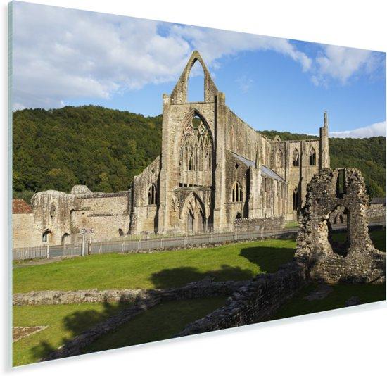 De Tintern Abbey in Wales Plexiglas 90x60 cm - Foto print op Glas (Plexiglas wanddecoratie)