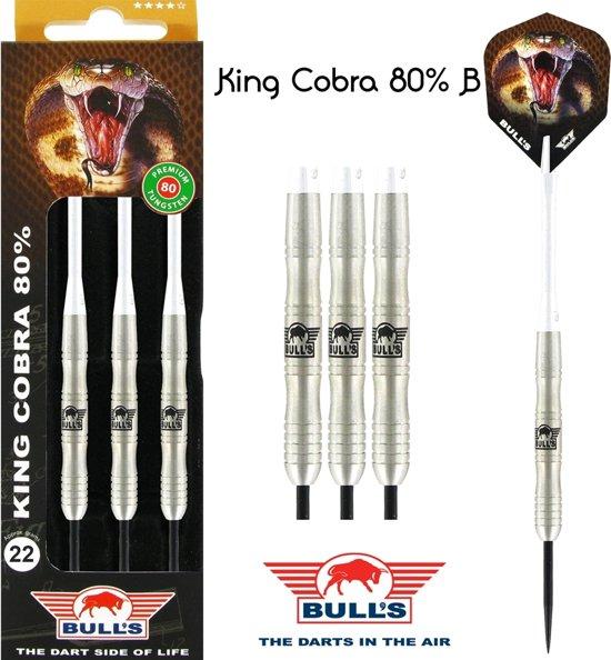 Bull's King Cobra 80% B 22 gram Steeltip Dartset