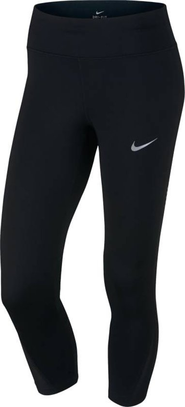 Nike Power Crop Racer - Capri Dames - Zwart