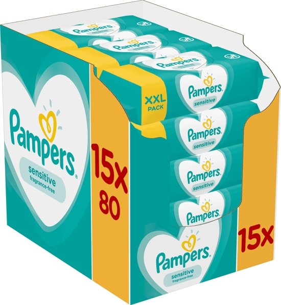 Pampers Sensitive - 1200 Stuks - Billendoekjes
