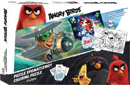 Angry Brids 2-zijdige Puzzel Angry Birds 24 Stukjes