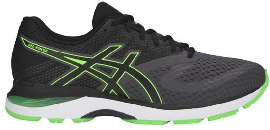 Asics Gel-Pulse Sportschoenen Heren - Dark Grey/ Green Gecko - Maat 42.5