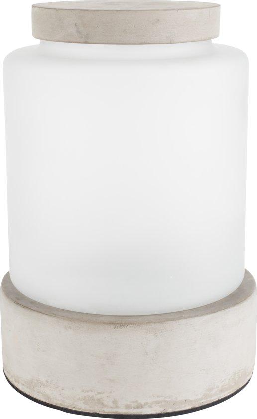 Zuiver Reina L vaas/tafellamp - LED - Oplaadbaar - Grijs/wit