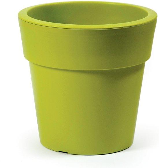Linea bloempot – rond D40 cm–H 35 cm – Lime groen