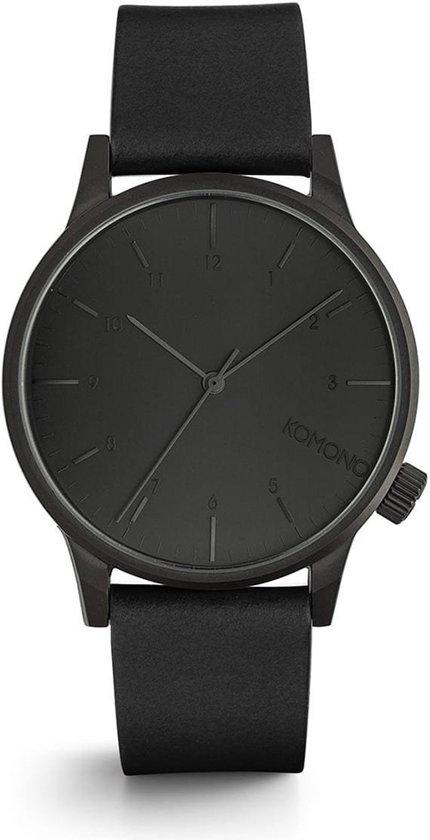 Komono Winston Regal All Black horloge dames en heren - zwart - W2264