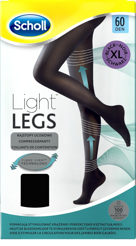 Scholl Light Legs 60 Denier Zwart - Maat XL - Panty