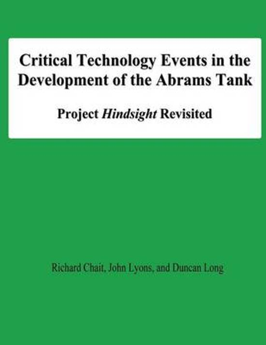 Critical Technology Events in the Development of the Abrams Tank