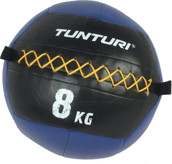 Tunturi Wall Ball - Medicine ball - Crossfit ball - 8kg - Blauw