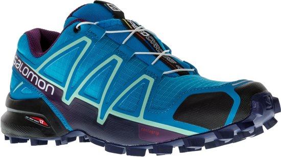Salomon Speedcross 4 Sportschoenen - Maat 38 - Vrouwen - blauw/ licht groen/ zwart