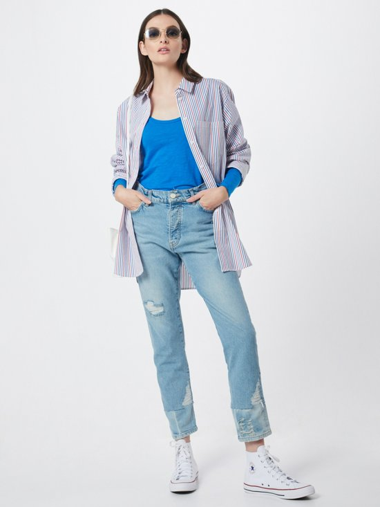 Esprit blouse printed poplin Blauw-xs