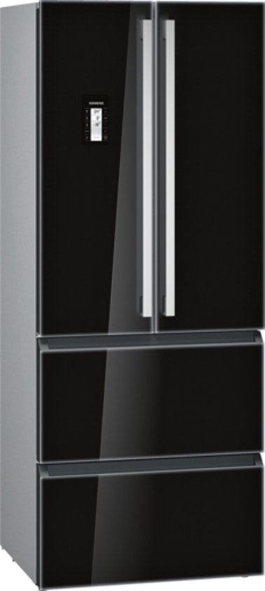 Siemens KM40FSB20 iQ700 - Amerikaanse koelkast - Zwart Glas