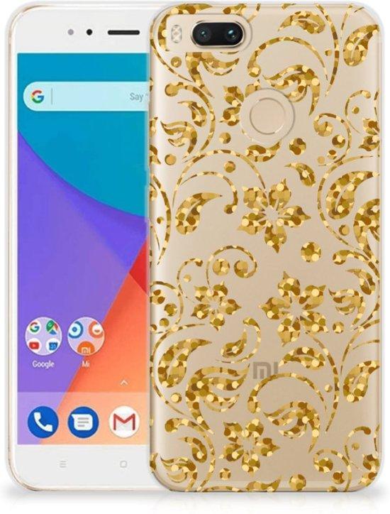 Xiaomi Mi A1 TPU Case Gouden Bloemen
