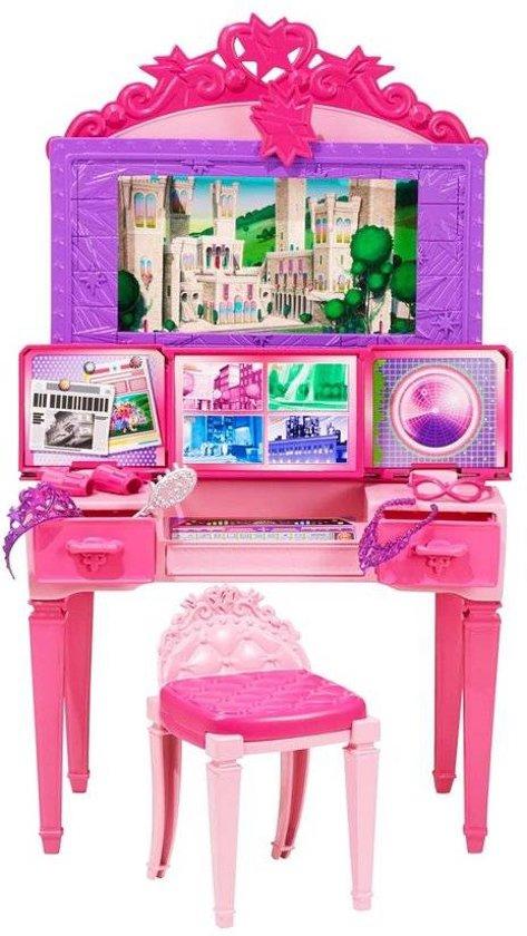 Barbie 2 in 1 Kaptafel Speelset