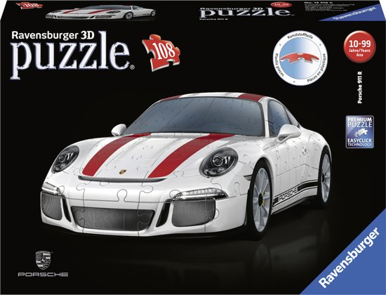 Ravensburger Porsche 911R - 3D puzzel - 108 stukjes