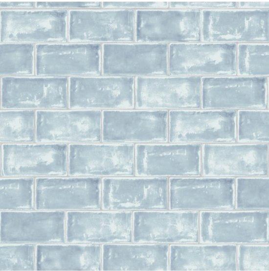 Genoeg bol.com | Home tegels blauw behang (vliesbehang, blauw) YU01
