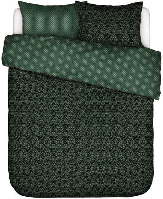 Essenza Home dekbedovertrek Bory green - extra kussensloop (60x70 cm)