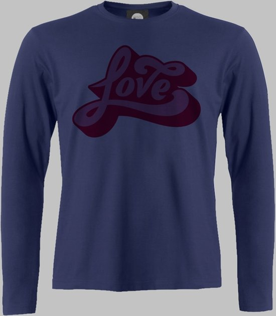 Longsleeve M Love - Darknavy - M - XXXXL Sportshirt