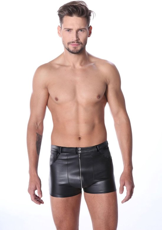 5-Pocket PU-leren Short - XXXCollection Maat M
