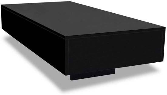 Zwarte Salon Tafel.Salontafel Hoogglans Zwart