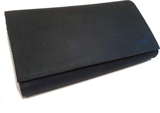 33323eb6780 Anti-skim, RFID Buffelleer dames portemonnee met veel pasjes en heel veel  vakken.