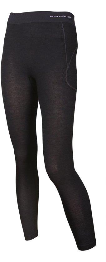 Brubeck | Active Wool - Dames Thermo Lange Onderbroek met Merino Wol - Seamless -Zwart-L