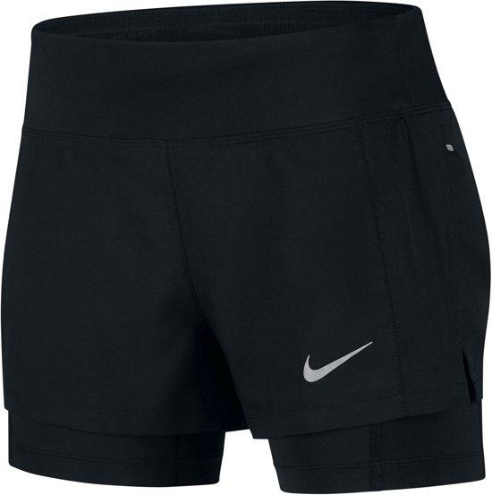 Nike lipse 2-in-1 Short Dames Sportbroek - Maat S --CONVERTVolwassenenVolwassenen - zwart