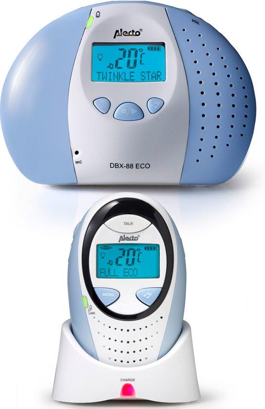 Alecto DBX-88 ECO Digitale ECO DECT babyfoon| 100% storingsvrije verbinding en ECO modus | Beste koop
