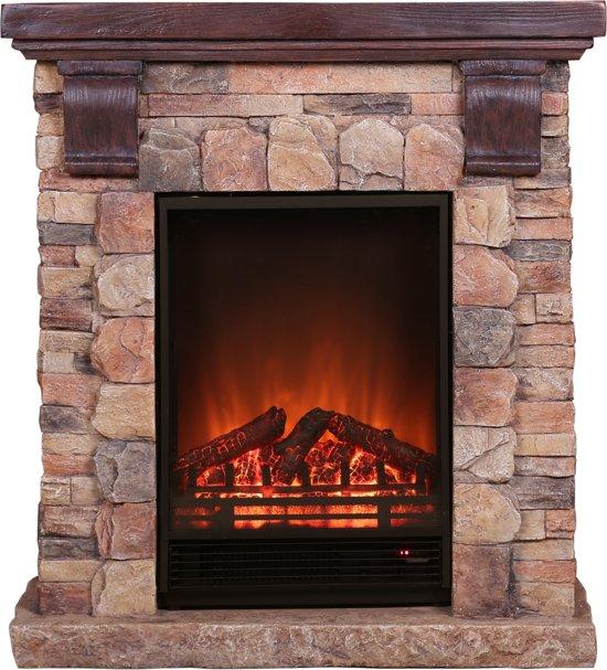 EL Fuego elektrische haard Kitzbühel - steenmotief - 1800 W