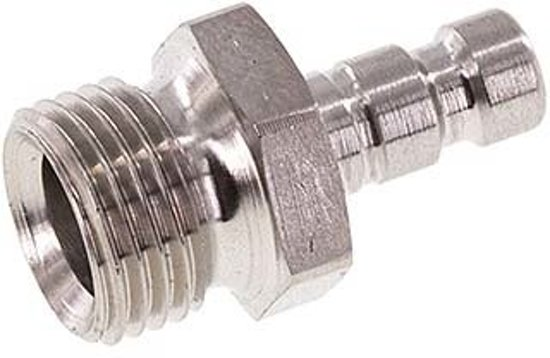 RVS DN 2.7 (Micro) Luchtkoppeling Insteeknippel G 1/8 inch Buitendraad - CLP2-M-SSL-P-018